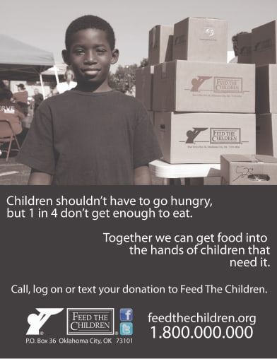Old Feed the Children Ad