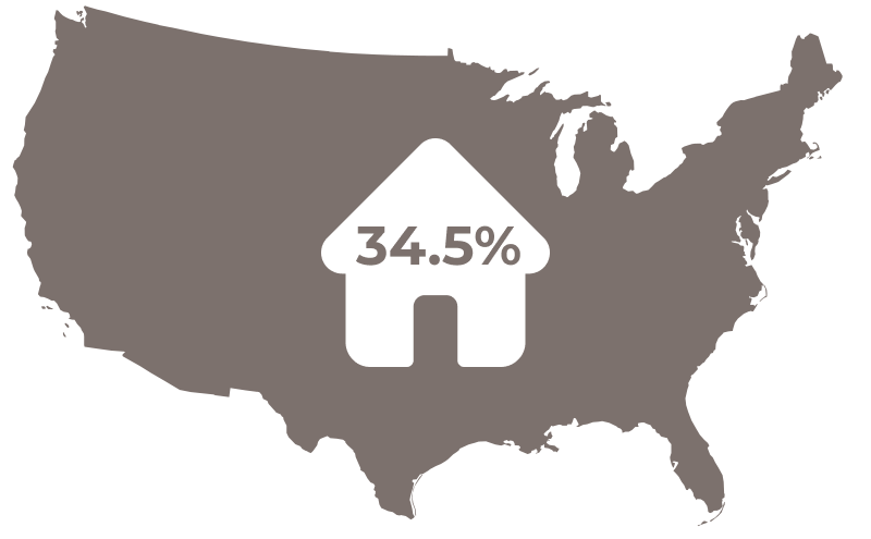 34.5 Percent of Houses Icon