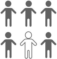 One in Six Children Icon