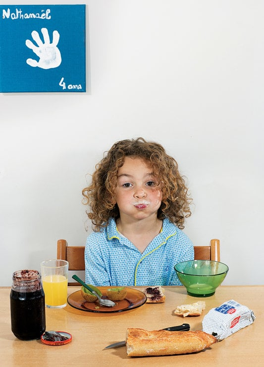child eating at table