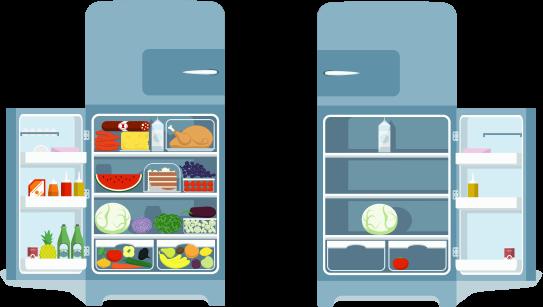 Defeat Hunger Month Refrigerator