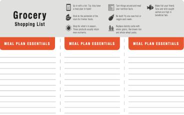 Herbalife Grocery List