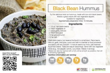 Herbalife Black Bean Hummus Recipe