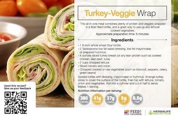 Herbalife Turkey Veggie Wrap Recipe