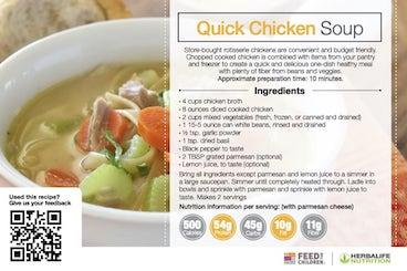Herbalife Quick Chicken Soup Recipe