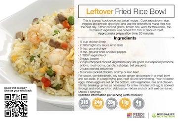 Herbalife Leftover Fried Rice Bowl Recipe