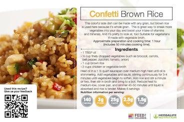 Herbalife Confetti Brown Rice Recipe