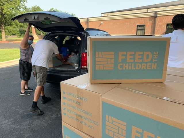 Feed the Children boxes